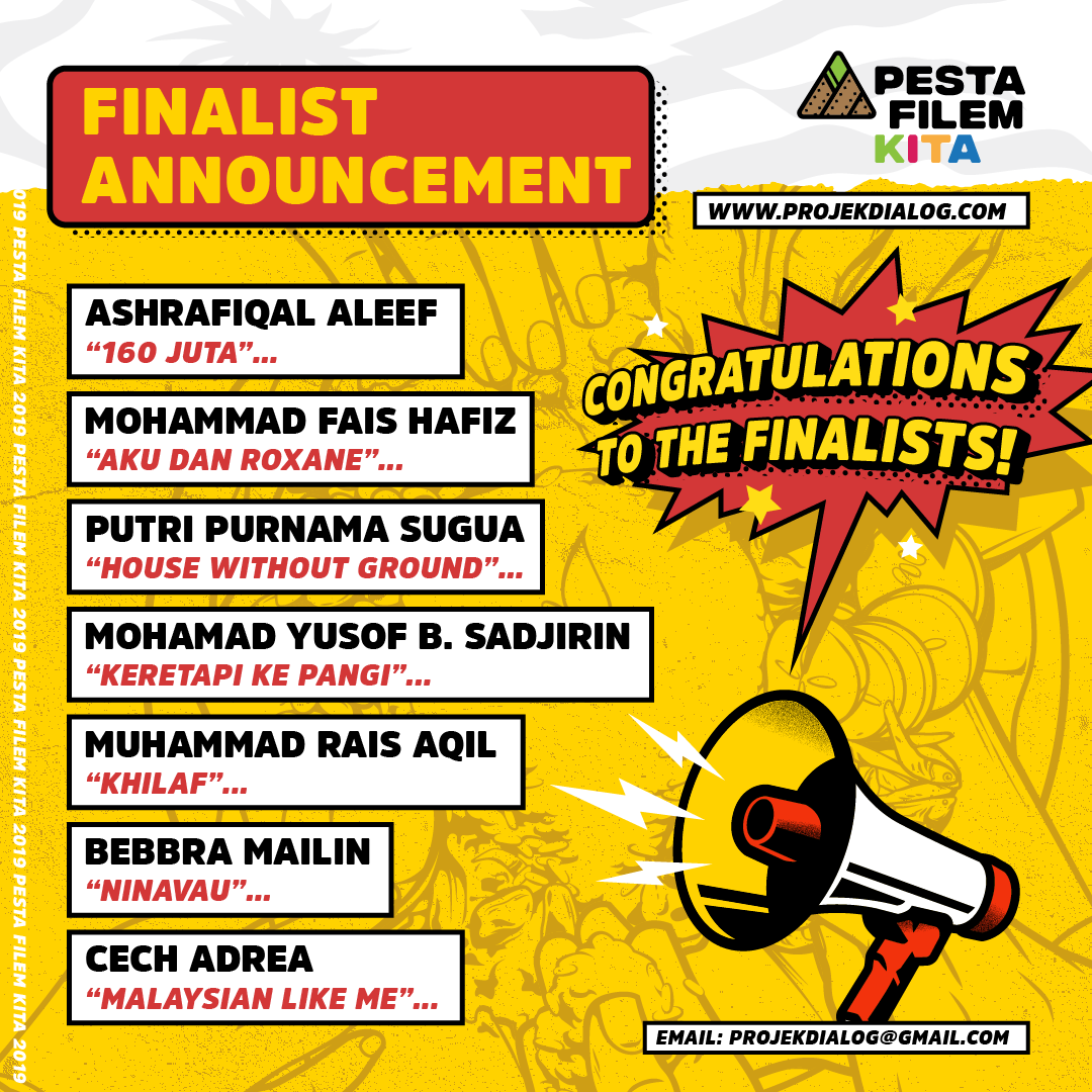 ANNOUNCEMENT: FINALISTS OF PESTA FILEM KITA 2